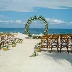 White Floral wedding Arch